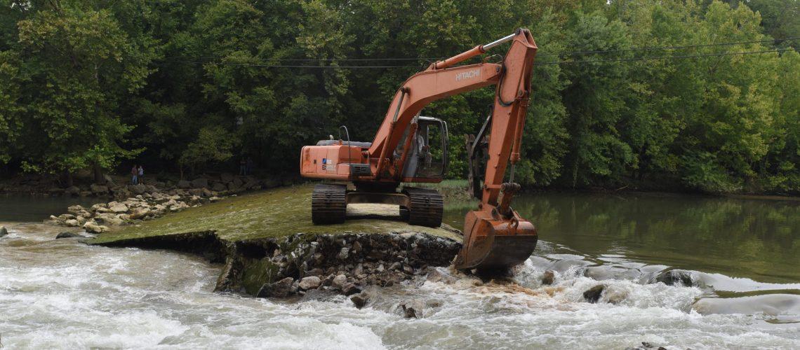 Stream restoration underway with Roaring River Dam removal